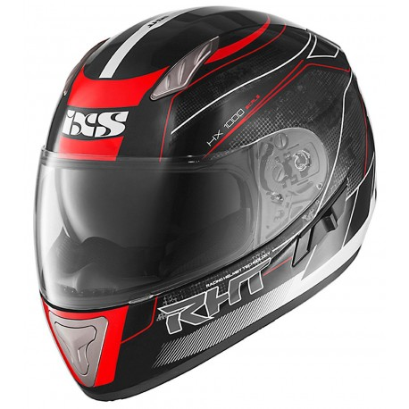 IXS HX 1000 Scale Helmet Black/Red