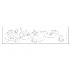 Malossi baltas liūtas kairė 24cm
