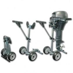 Vežimėlis pakabinama varikliui